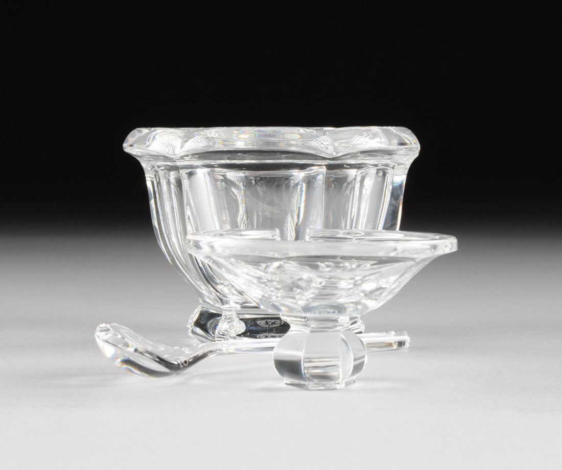 "A SET OF FOUR BACCARAT CLEAR CRYSTAL ""BRETAGNE"" PATTERN - 4"