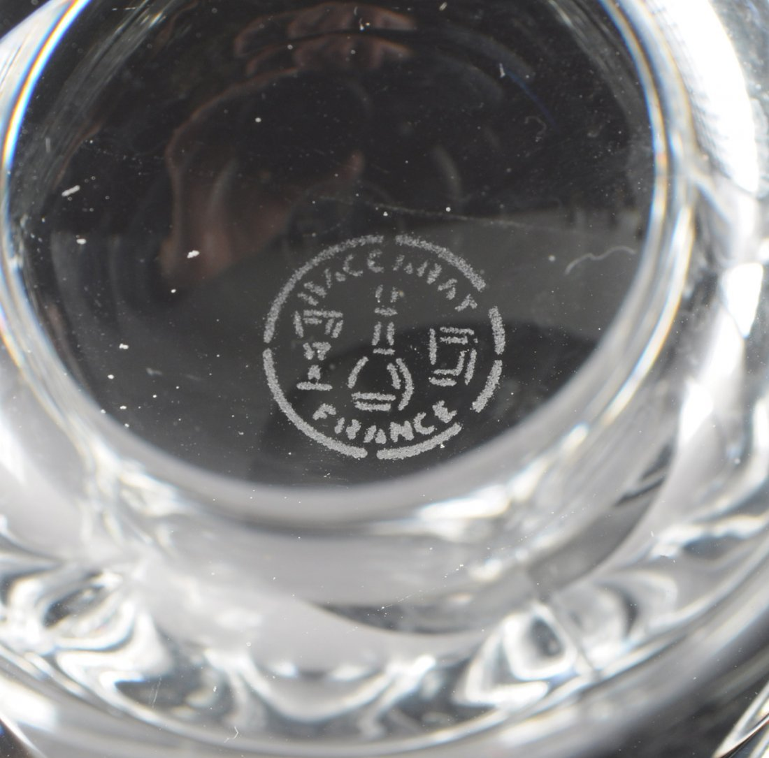 "A SET OF FOUR BACCARAT CLEAR CRYSTAL ""BRETAGNE"" PATTERN - 5"