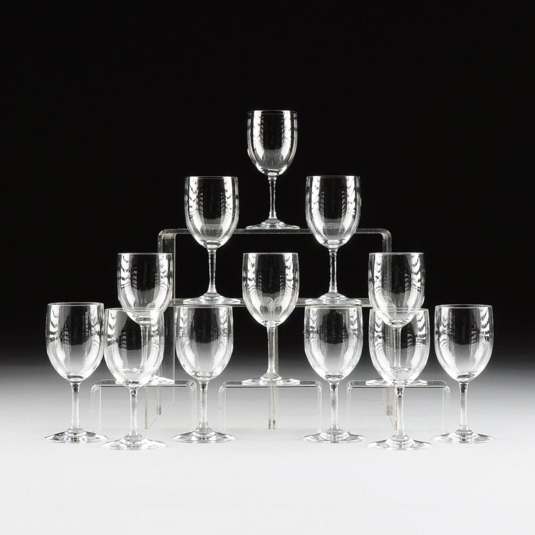 A SET OF TWELVE BACCARAT EUROPEAN PORT WINE GLASSES,