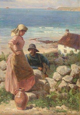 147: CHARLES SIM MOTTRAM (British 1876-1919) A painting