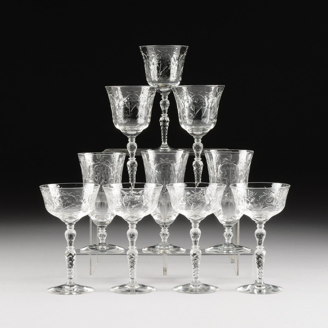 A GROUP OF TWENTY-SIX CONTINENTAL CUT AND ENGRAVED
