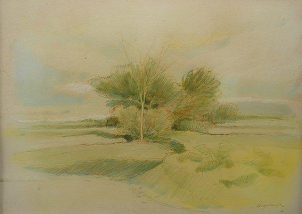 """24: WILLIAM ANZALONE (American/Texas  ) A watercolor, """""""