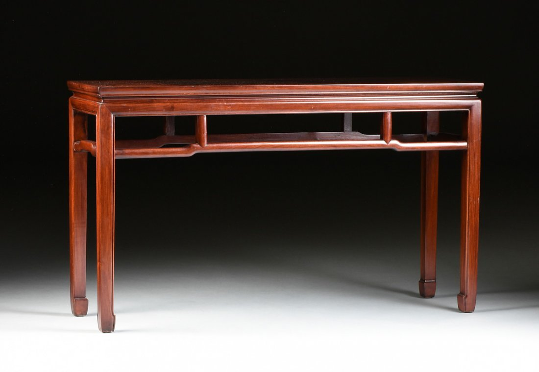 A CHINESE CARVED WOOD ALTAR TABLE, MODERN,