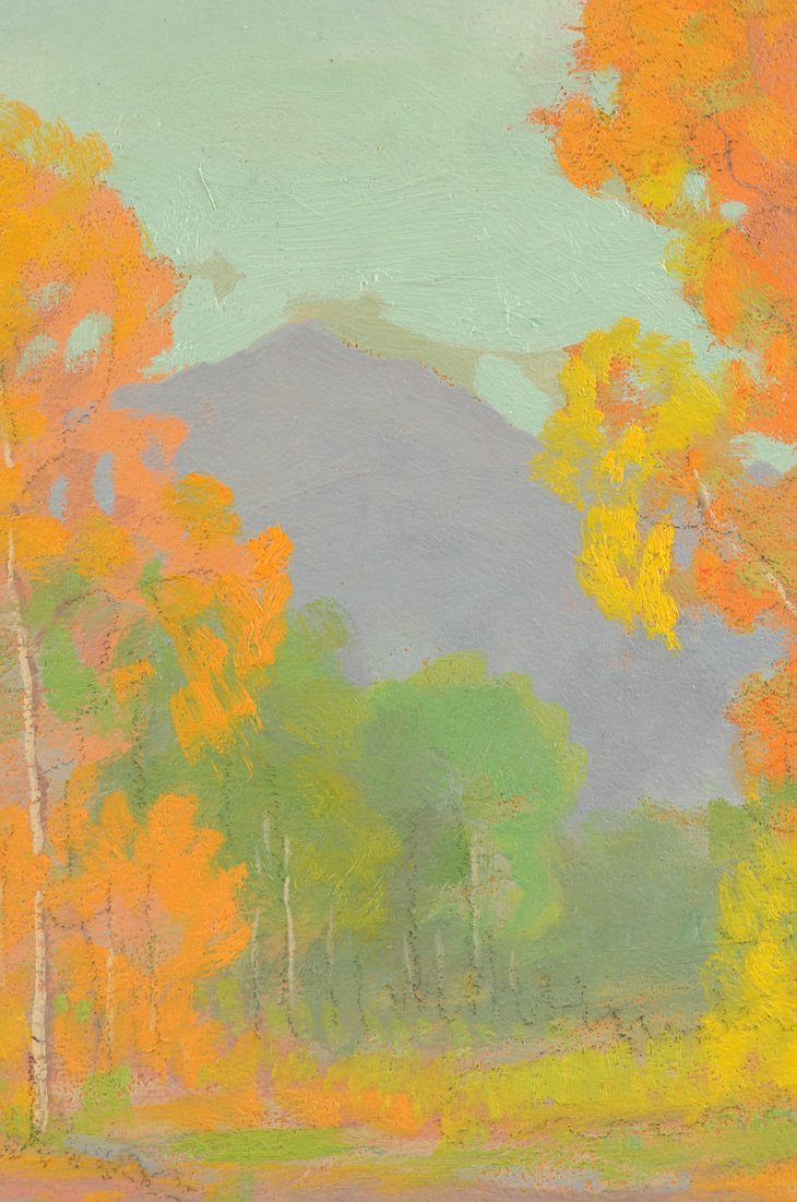"""DAVID STIRLING (American 1887-1971) A PAINTING, """"August - 10"""