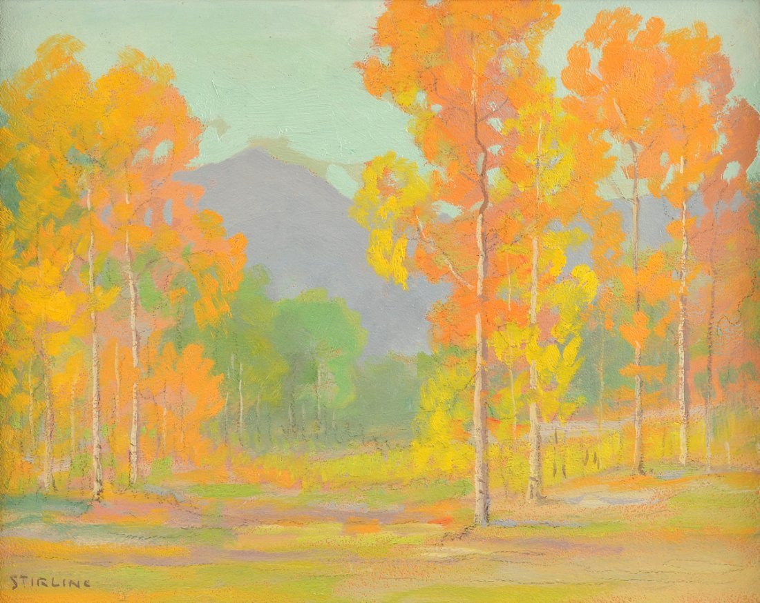 """DAVID STIRLING (American 1887-1971) A PAINTING, """"August"""