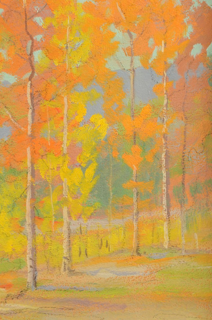 """DAVID STIRLING (American 1887-1971) A PAINTING, """"August - 8"""