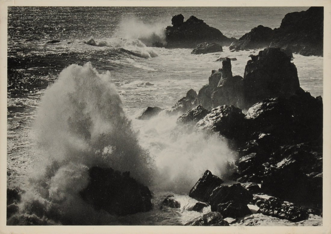 ANSEL ADAMS (American 1902-1984) A SIGNED POSTCARD,