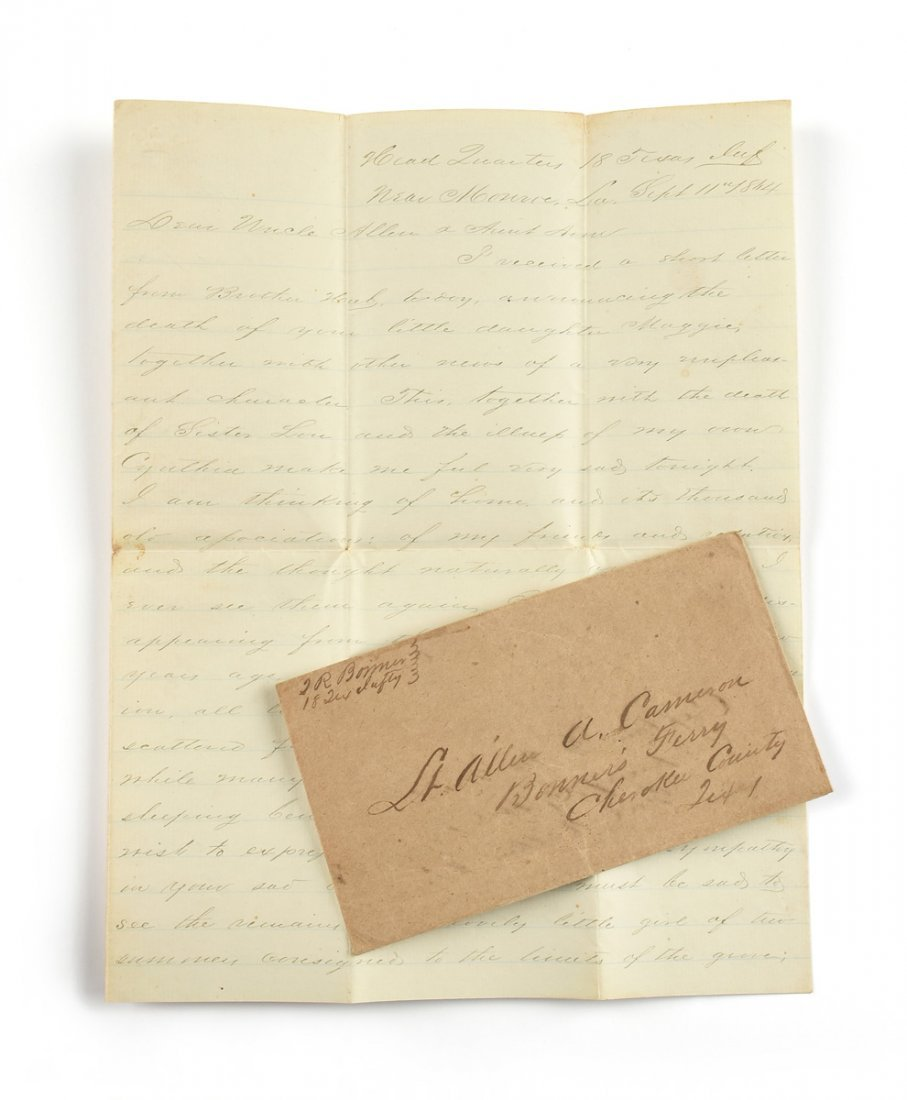 A CIVIL WAR SOLDIER'S LETTER FROM THOMAS BONNER,