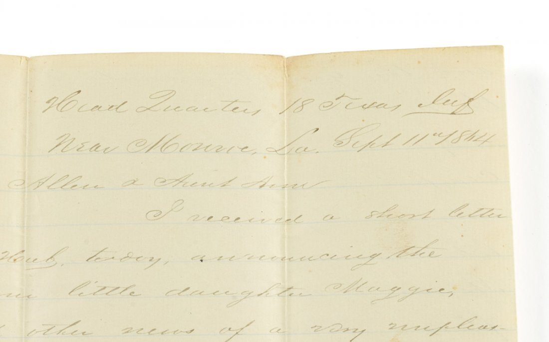 A CIVIL WAR SOLDIER'S LETTER FROM THOMAS BONNER, - 2