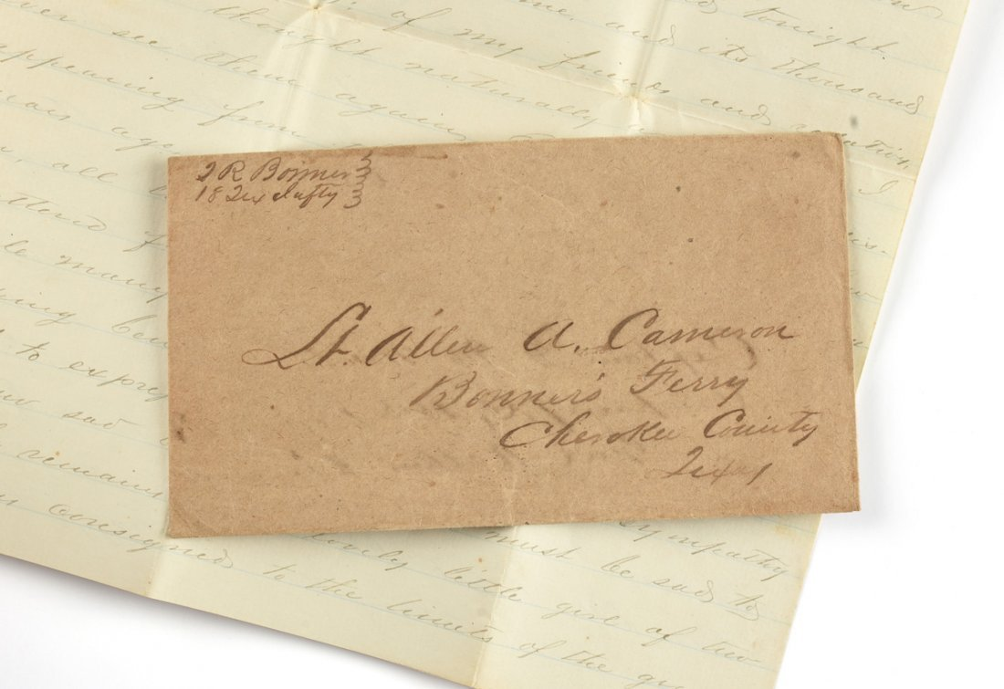 A CIVIL WAR SOLDIER'S LETTER FROM THOMAS BONNER, - 3