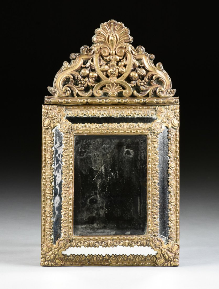 A MATCHED PAIR OF DIMINUTIVE DUTCH BAROQUE STYLE BRASS