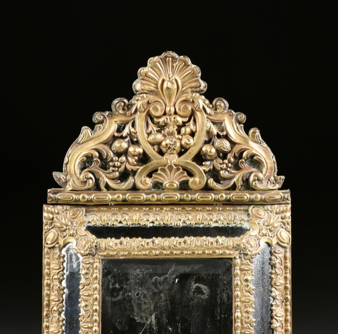 A MATCHED PAIR OF DIMINUTIVE DUTCH BAROQUE STYLE BRASS - 3