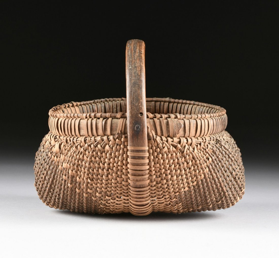 A GROUP OF FOUR VARIOUS NATIVE AMERICAN WOVEN BASKETRY - 10