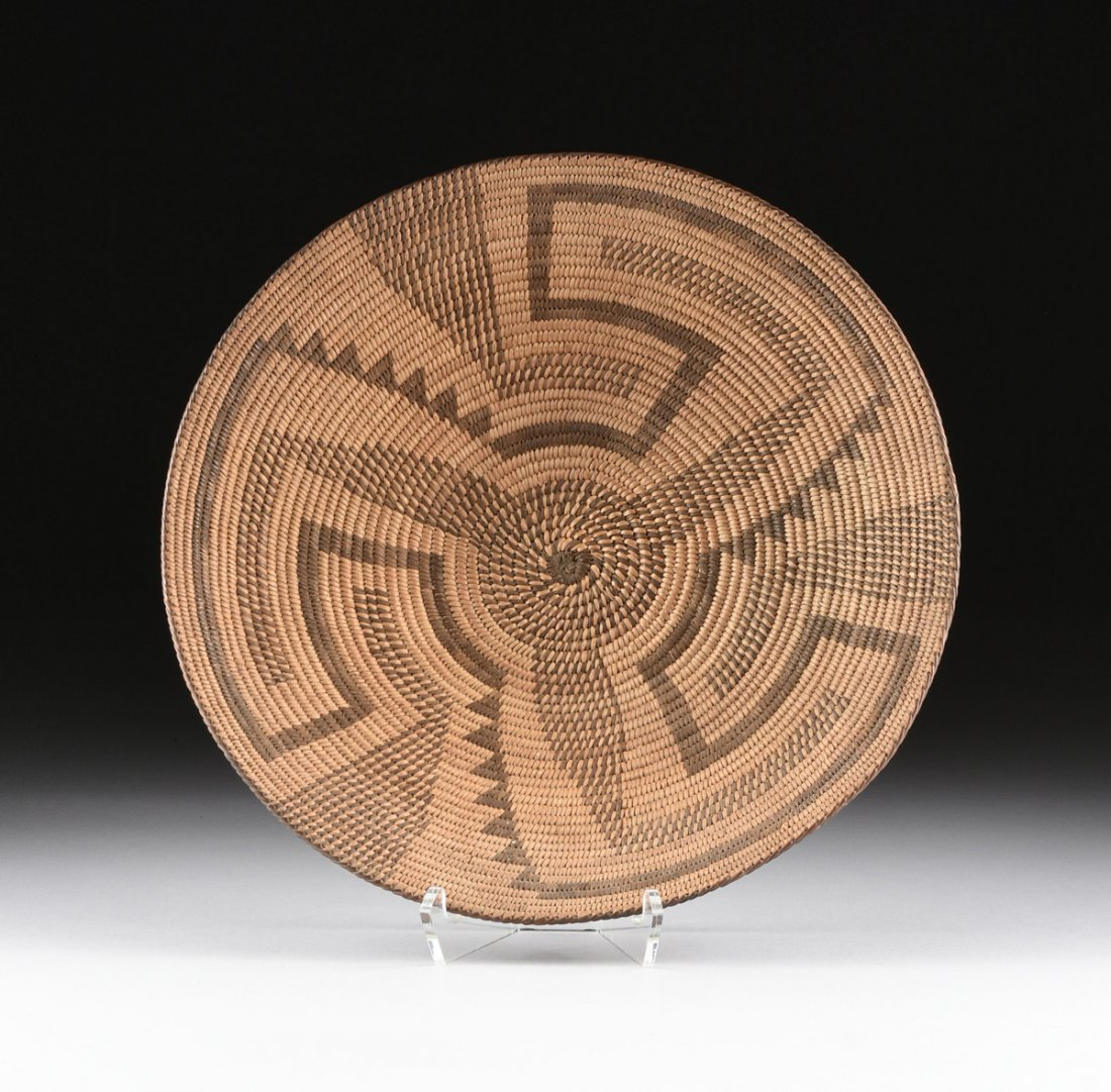 A GROUP OF FOUR VARIOUS NATIVE AMERICAN WOVEN BASKETRY - 2
