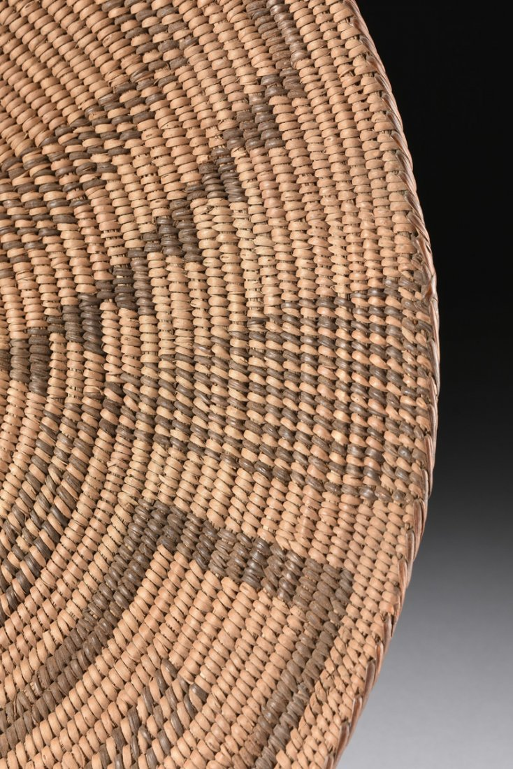 A GROUP OF FOUR VARIOUS NATIVE AMERICAN WOVEN BASKETRY - 3