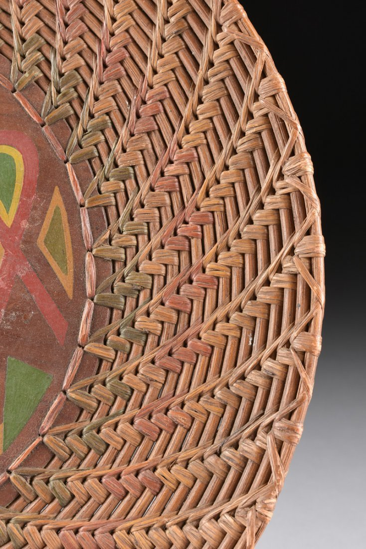 A GROUP OF FOUR VARIOUS NATIVE AMERICAN WOVEN BASKETRY - 8