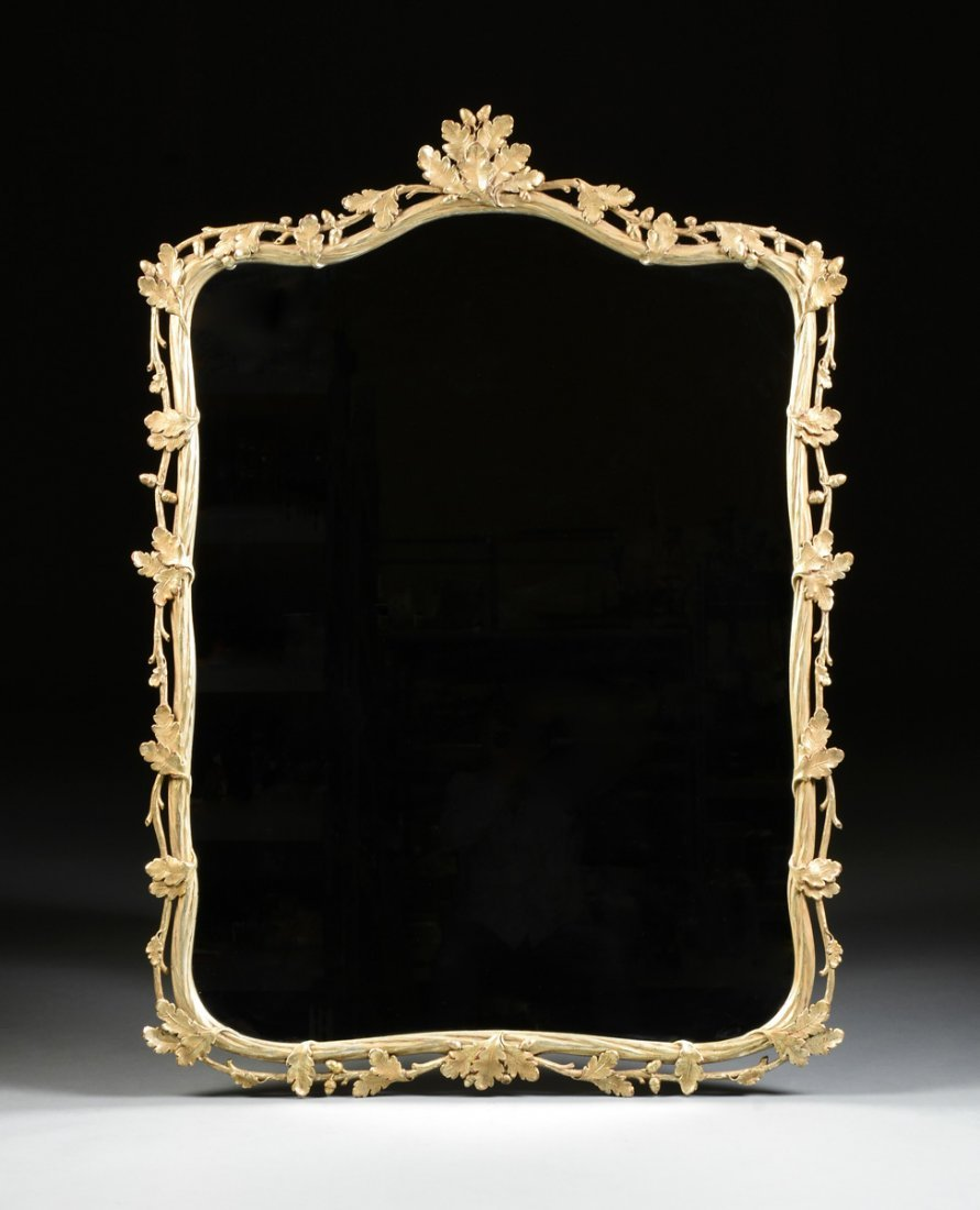 A PAIR OF LARGE GEORGE III STYLE PARCEL GILT AND SILVER - 2