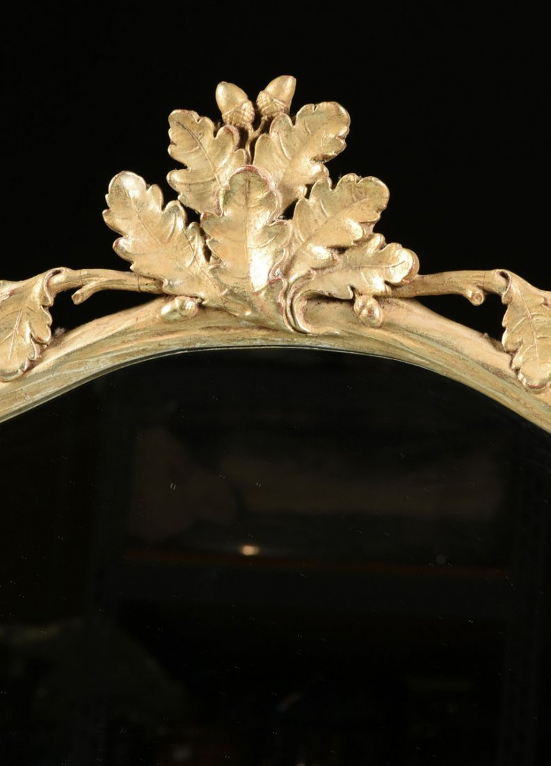 A PAIR OF LARGE GEORGE III STYLE PARCEL GILT AND SILVER - 4