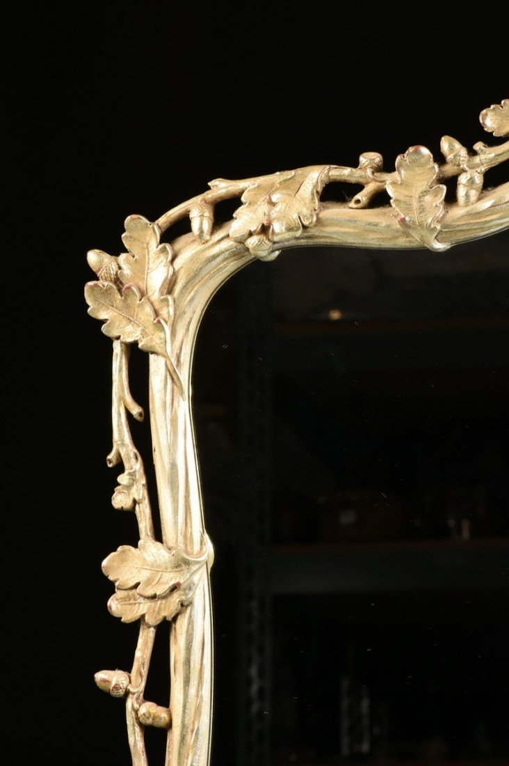 A PAIR OF LARGE GEORGE III STYLE PARCEL GILT AND SILVER - 7