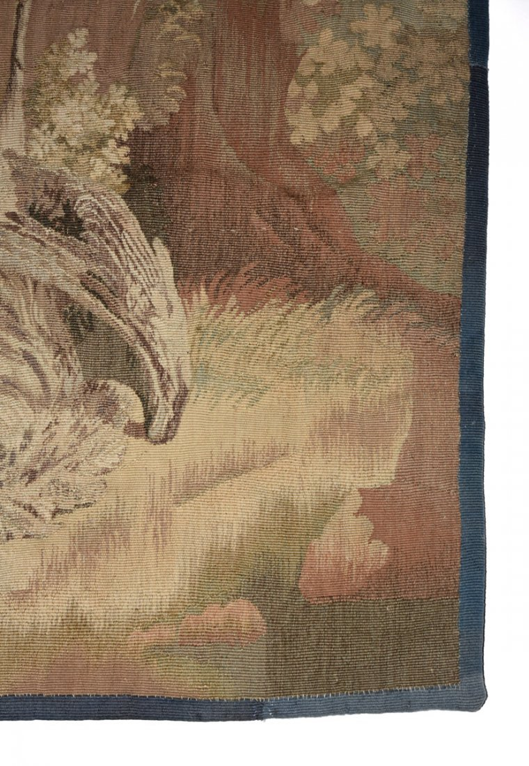 """A CONTINENTAL """"HUNT"""" SUBJECT WOVEN WOOL TAPESTRY, - 2"""