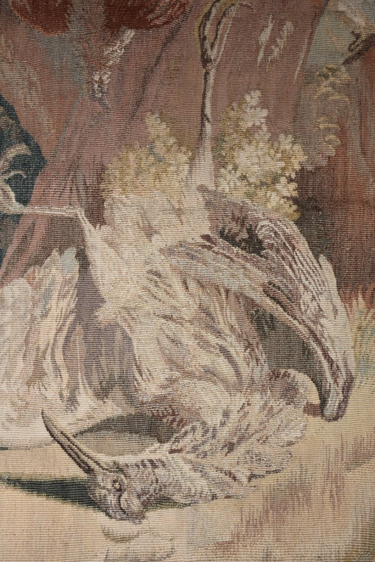 """A CONTINENTAL """"HUNT"""" SUBJECT WOVEN WOOL TAPESTRY, - 3"""