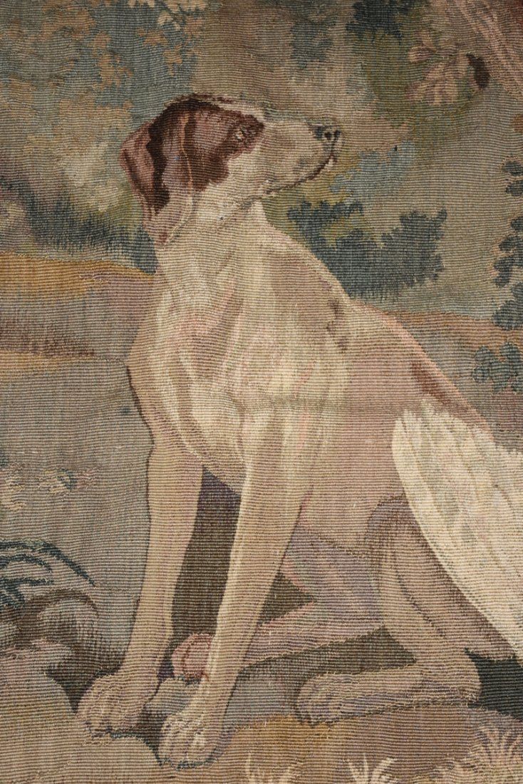 """A CONTINENTAL """"HUNT"""" SUBJECT WOVEN WOOL TAPESTRY, - 4"""