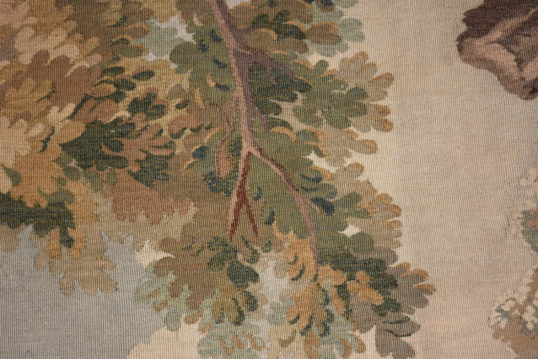 """A CONTINENTAL """"HUNT"""" SUBJECT WOVEN WOOL TAPESTRY, - 7"""