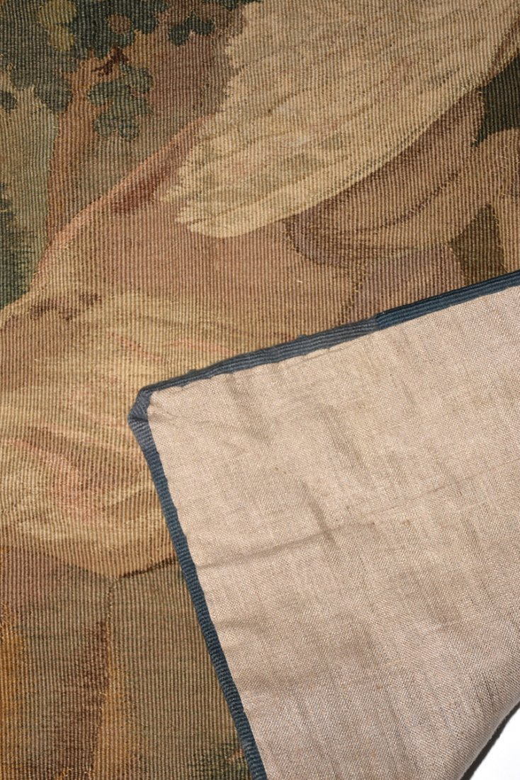 """A CONTINENTAL """"HUNT"""" SUBJECT WOVEN WOOL TAPESTRY, - 8"""