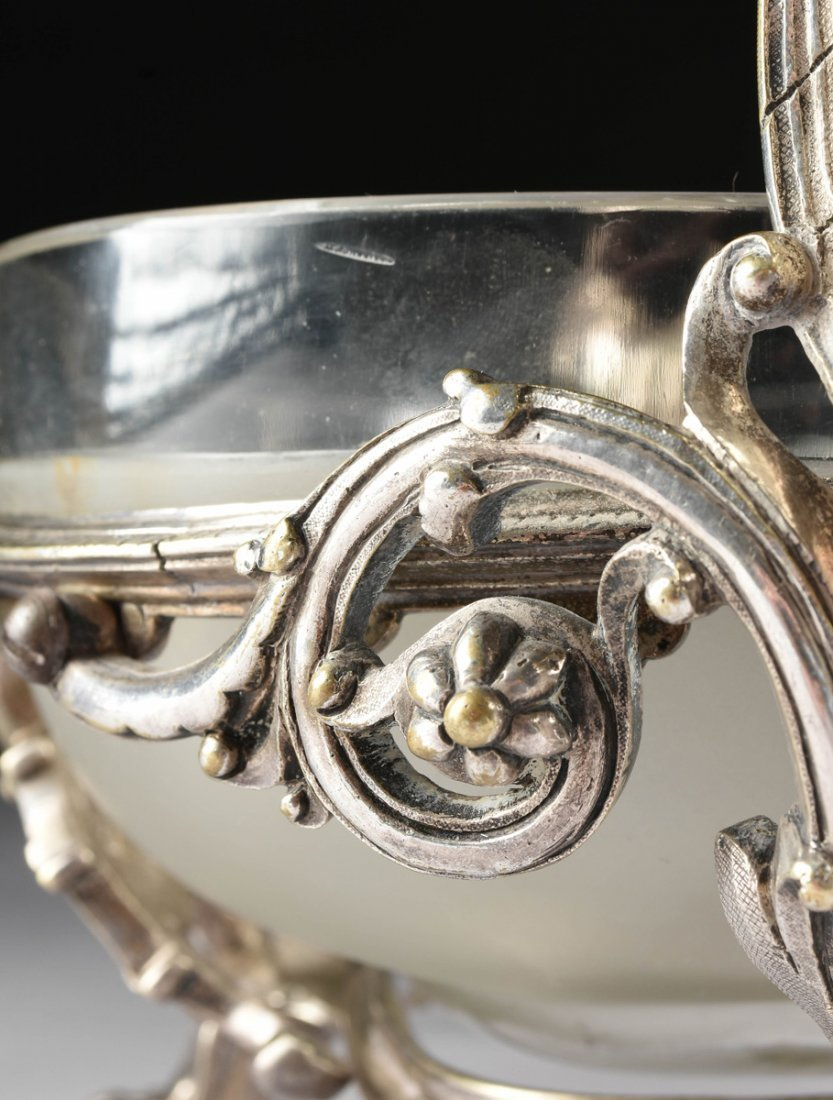 A NAPOLEON III SILVERPLATED CENTERPIECE BOWL, THIRD - 10