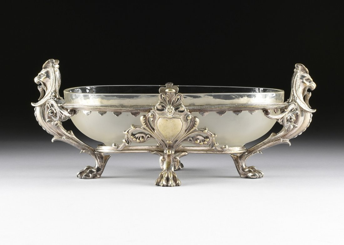 A NAPOLEON III SILVERPLATED CENTERPIECE BOWL, THIRD