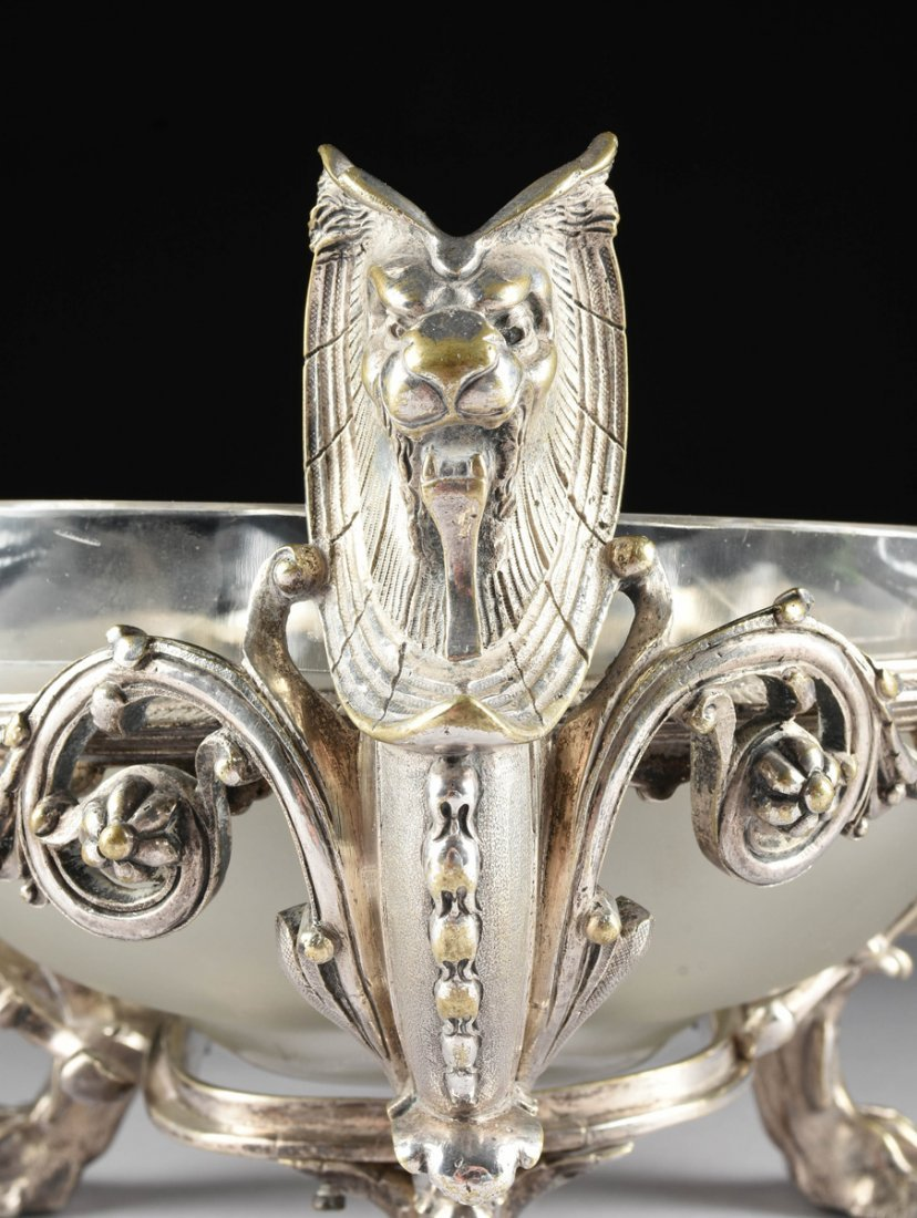A NAPOLEON III SILVERPLATED CENTERPIECE BOWL, THIRD - 9