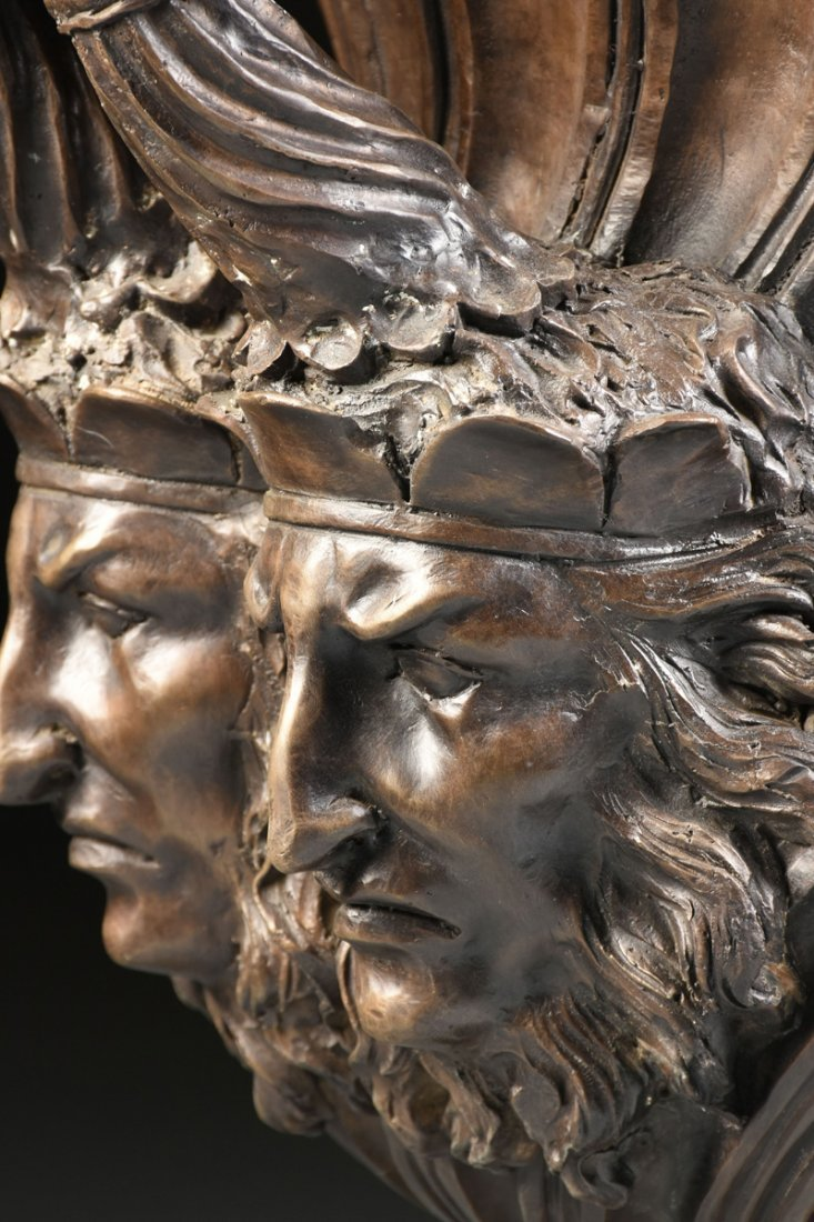A PAIR OF LARGE NEOCLASSICAL STYLE PATINATED BRONZE - 10