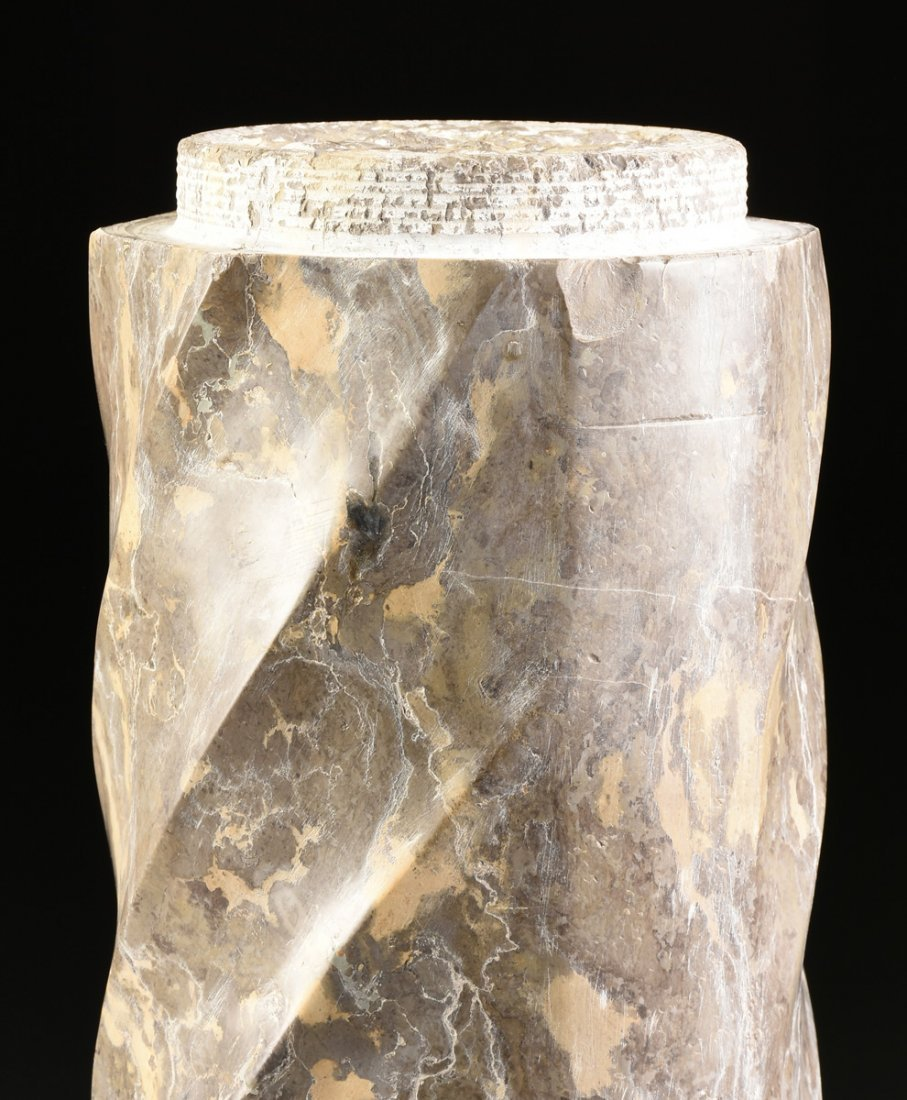 A GROUP OF THREE ROMANESQUE STYLE VARIEGATED MARBLE - 4