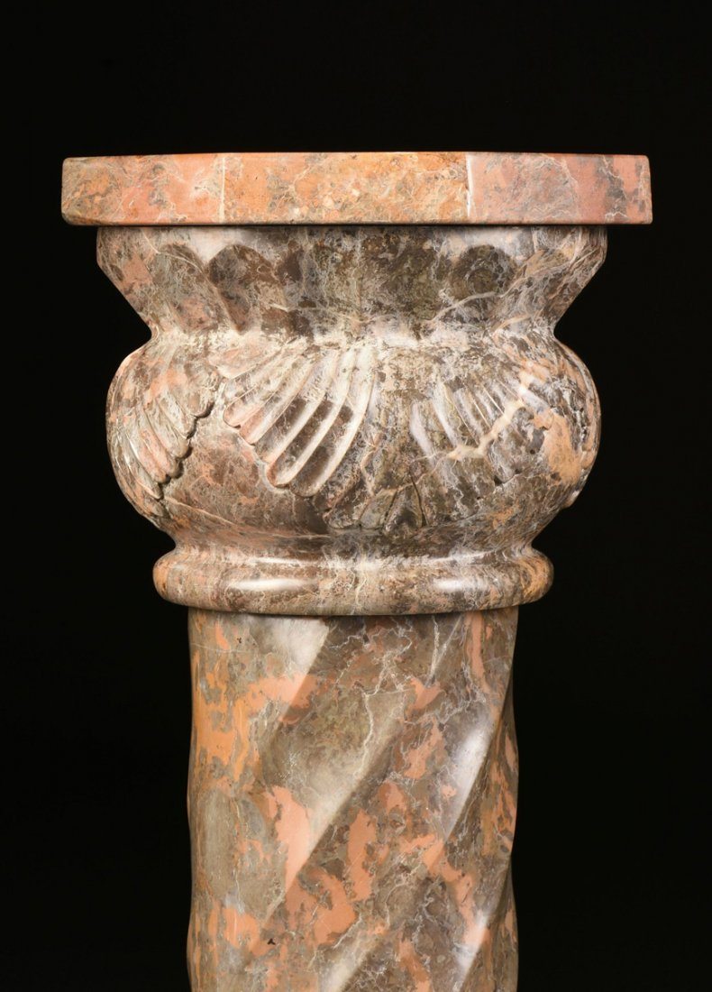 A GROUP OF THREE ROMANESQUE STYLE VARIEGATED MARBLE - 9