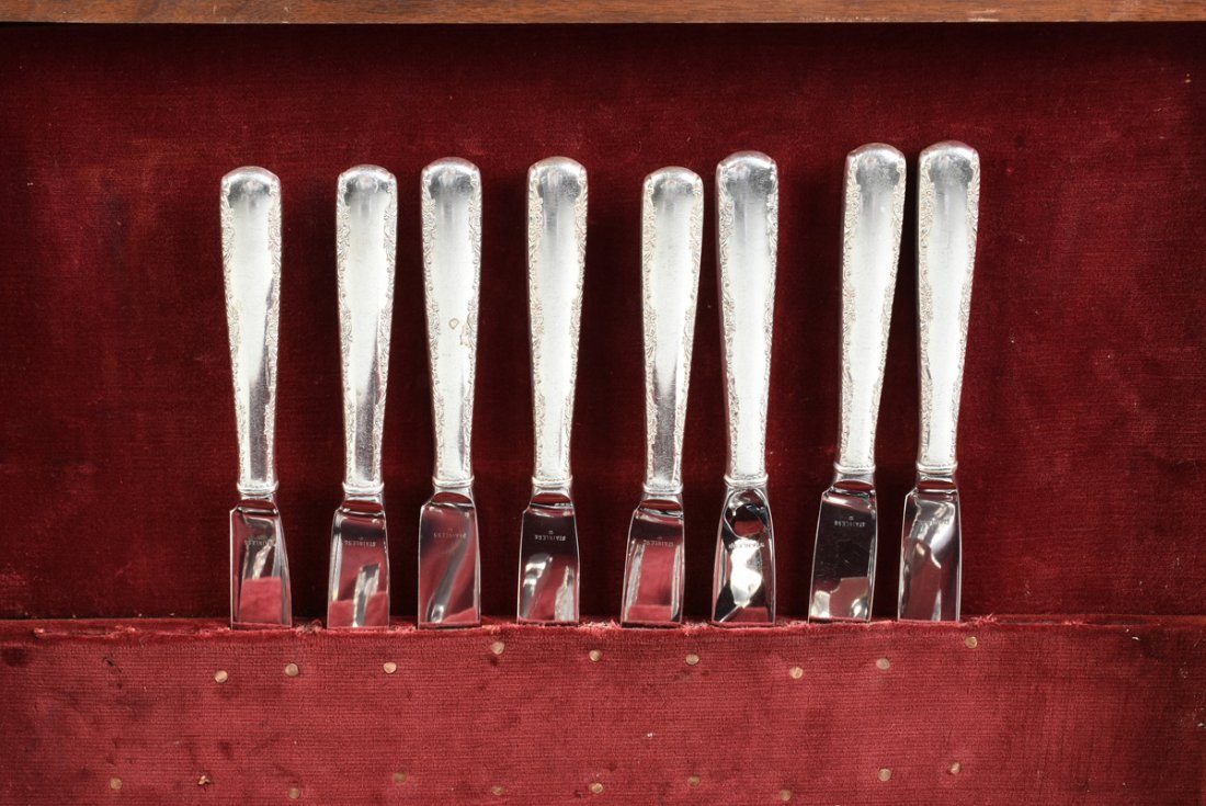 A FIFTY-NINE PIECE GORHAM STERLING SILVER FLATWARE - 6