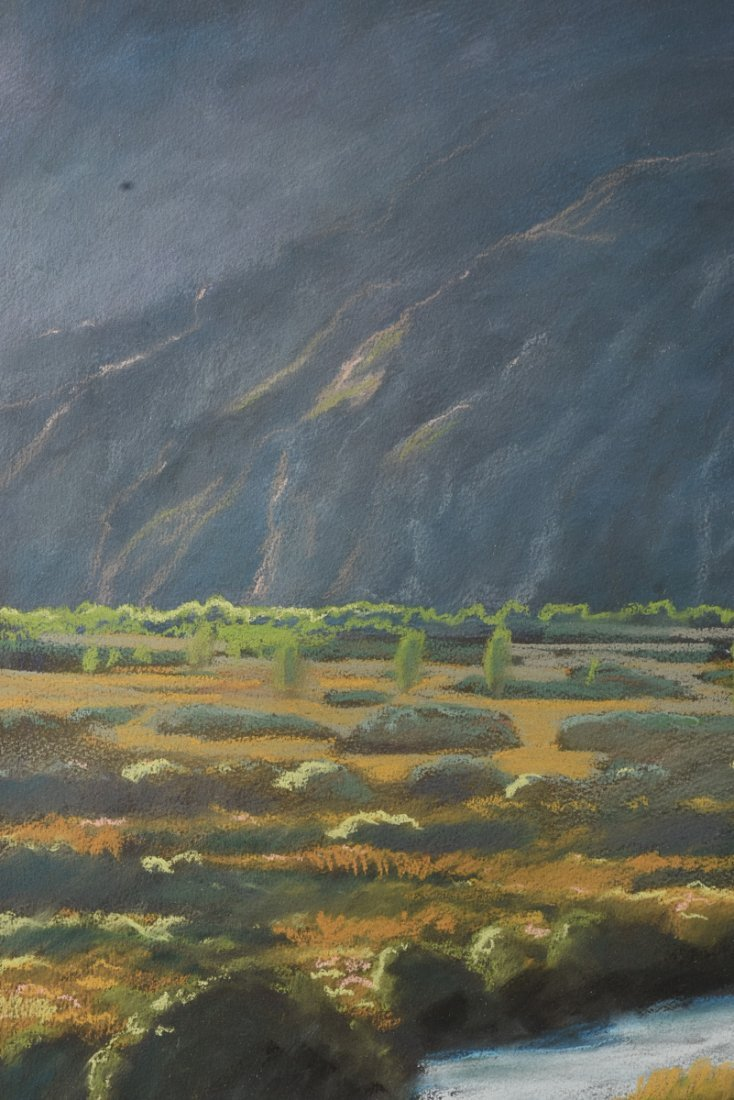 """AMERICAN SCHOOL (20th Century) A PAINTING, """"River - 10"""