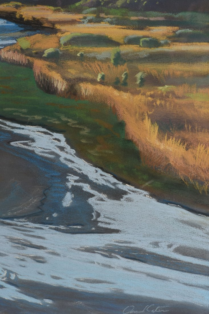 """AMERICAN SCHOOL (20th Century) A PAINTING, """"River - 4"""