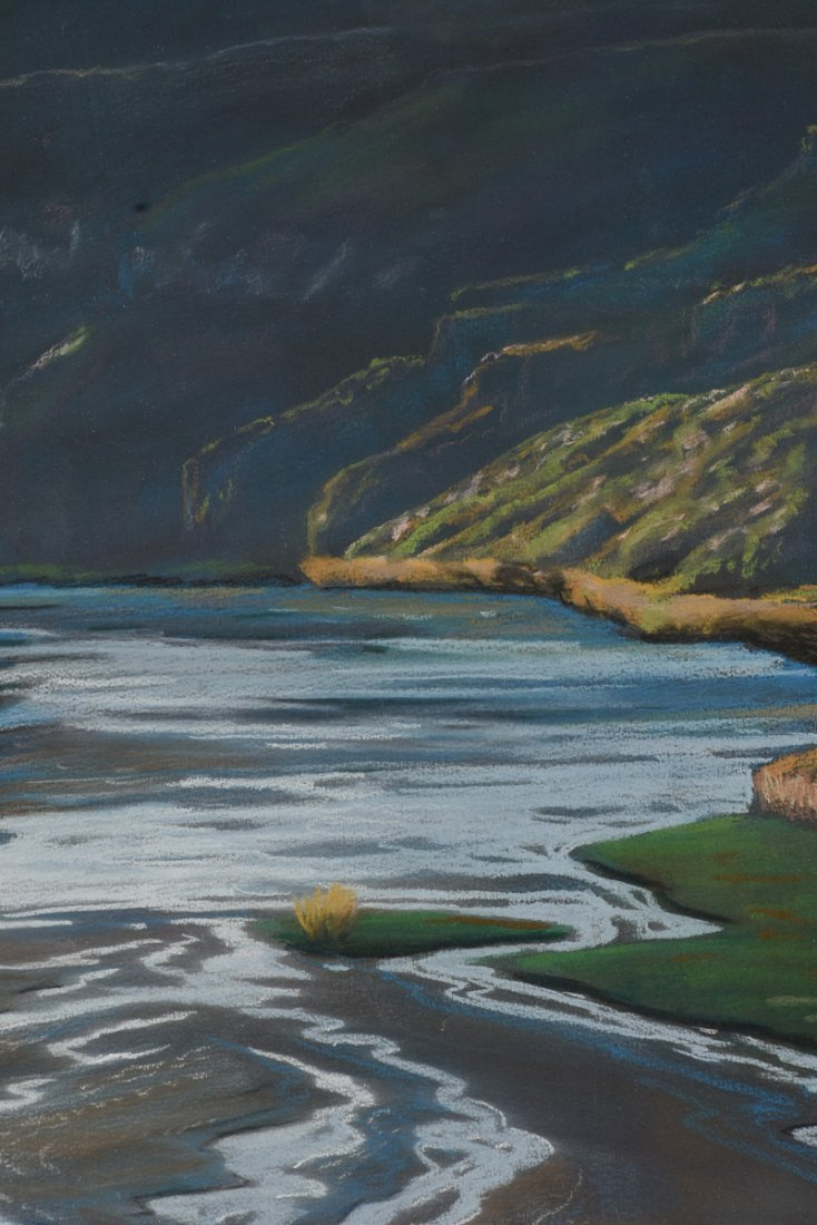 """AMERICAN SCHOOL (20th Century) A PAINTING, """"River - 6"""