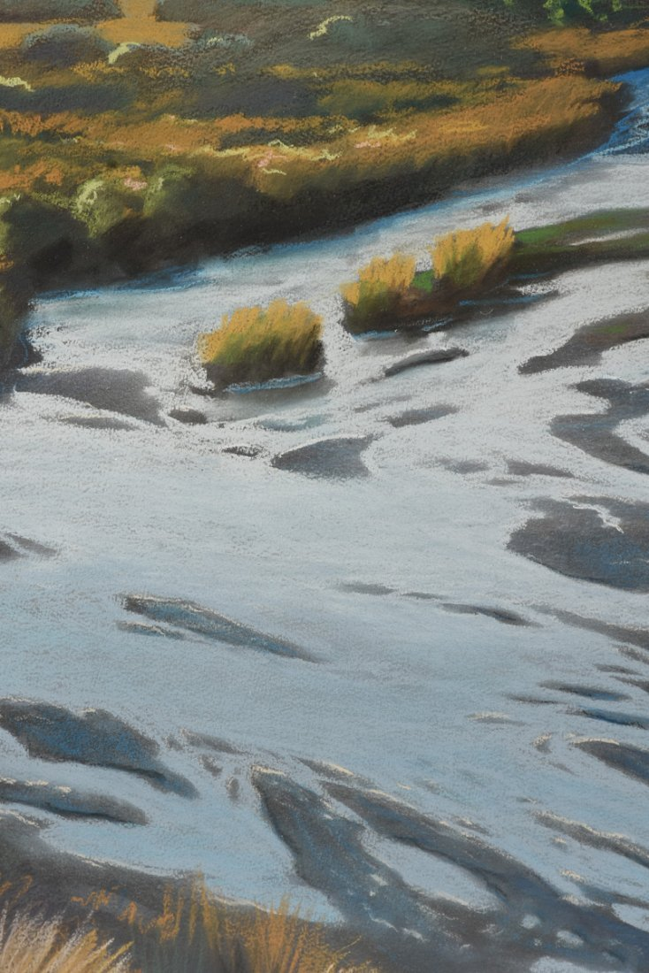 """AMERICAN SCHOOL (20th Century) A PAINTING, """"River - 8"""