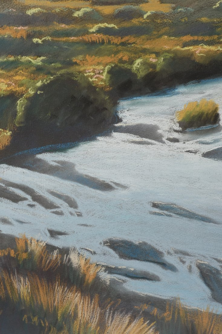"""AMERICAN SCHOOL (20th Century) A PAINTING, """"River - 9"""