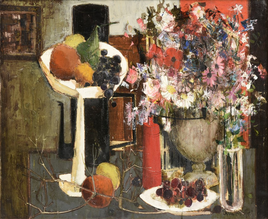 "VERNET BONFORT (French b. 1934) A PAINTING, ""Still Life"