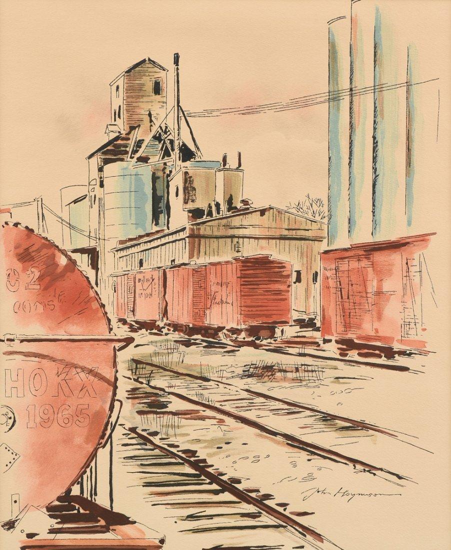 "JOHN HAYMSON (American 1903-1980) A PAINTING, ""The"