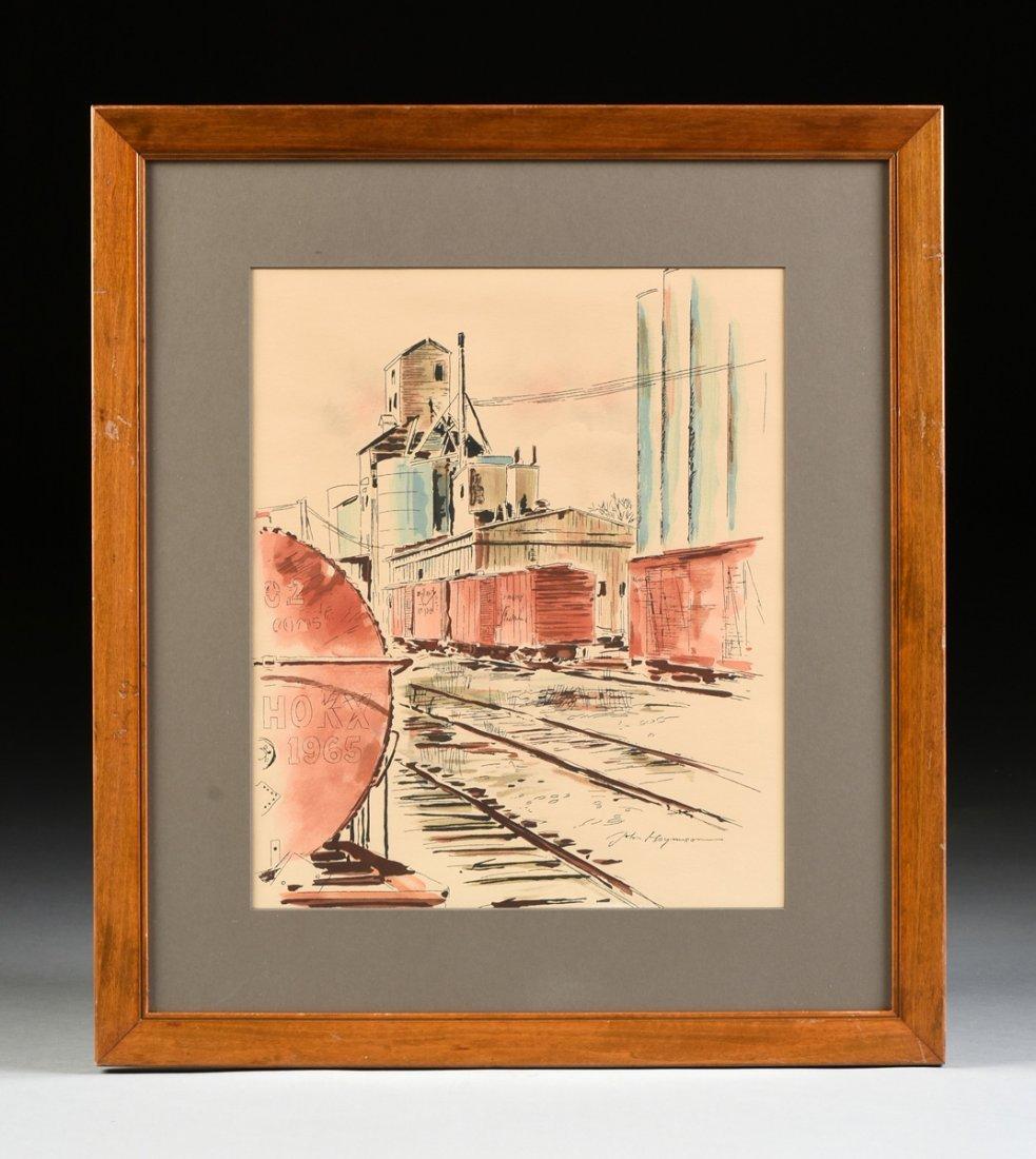 "JOHN HAYMSON (American 1903-1980) A PAINTING, ""The - 2"