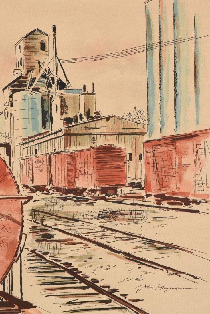 "JOHN HAYMSON (American 1903-1980) A PAINTING, ""The - 4"