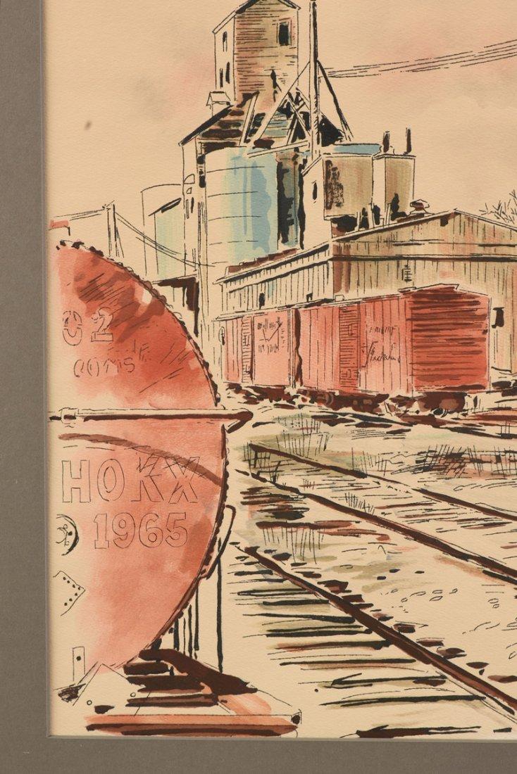 "JOHN HAYMSON (American 1903-1980) A PAINTING, ""The - 7"