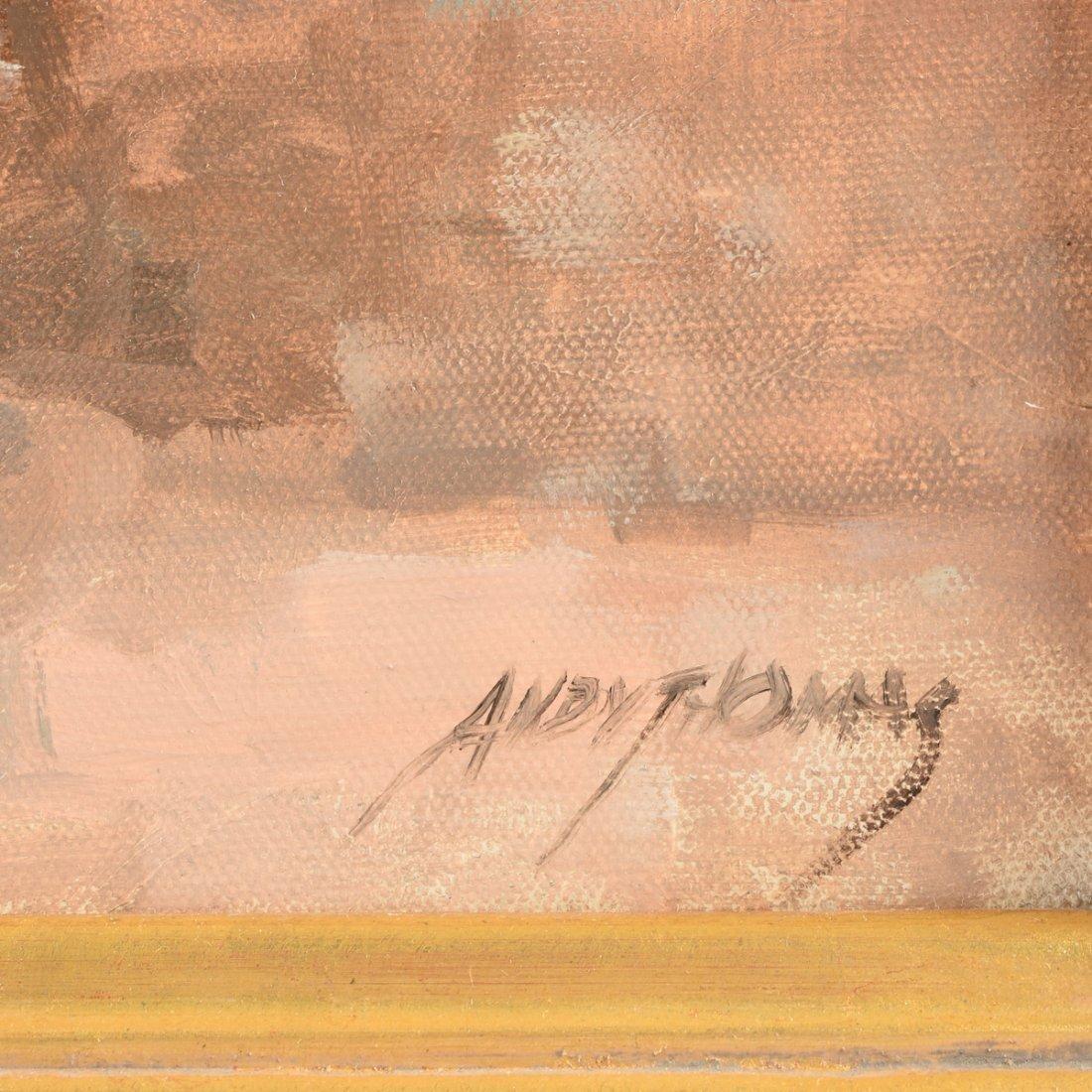 """ANDY THOMAS (American b. 1957) A PAINTING, """"Meeting at - 3"""