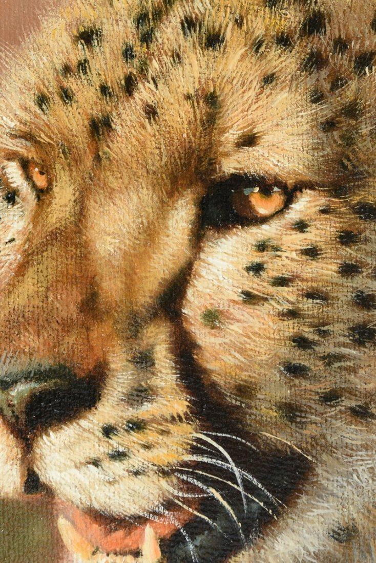 "ERIC FORLEE (American b. 1949) A PAINTING, ""Cheetah - 10"