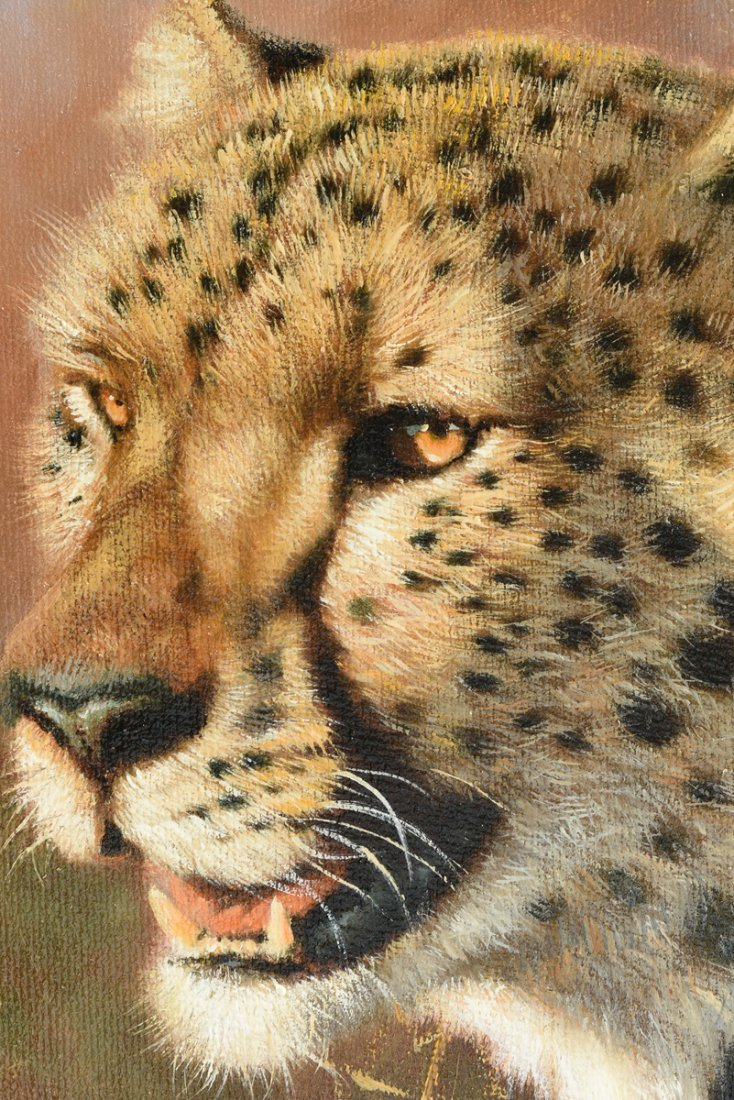 "ERIC FORLEE (American b. 1949) A PAINTING, ""Cheetah - 5"