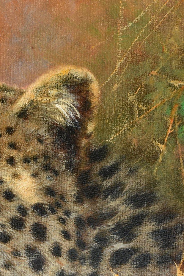 "ERIC FORLEE (American b. 1949) A PAINTING, ""Cheetah - 6"