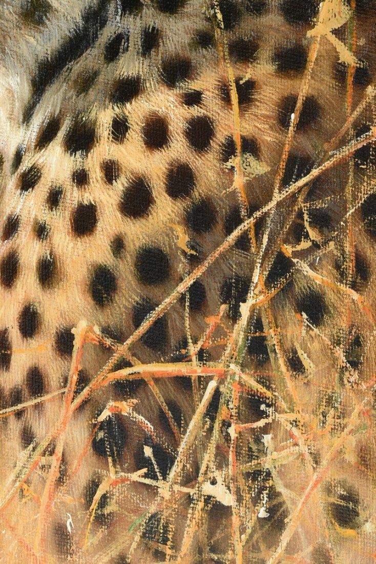 "ERIC FORLEE (American b. 1949) A PAINTING, ""Cheetah - 7"